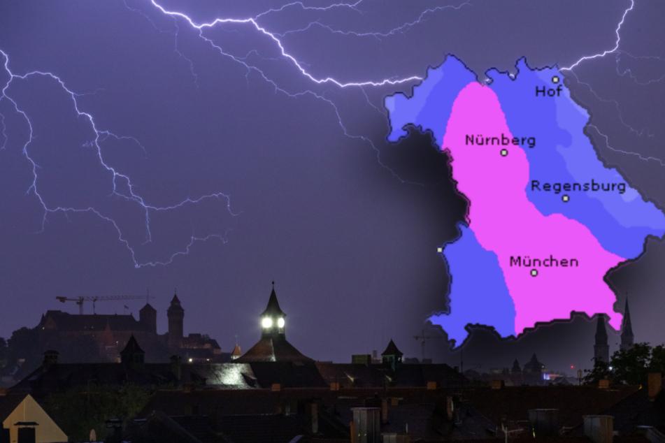 Viel Regen und Gewitter: Mit diesem Wetter startet Bayern in die Woche