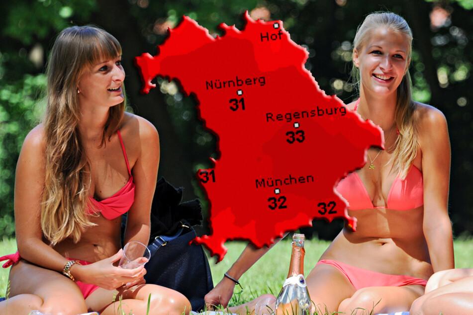 Erst Regenschirm, dann Badehose: So wird das Wetter in Bayern