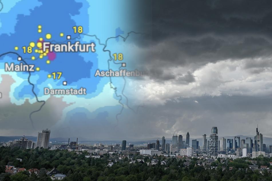 Achtung: Heute in Hessen Gewitter mit heftigem Starkregen möglich
