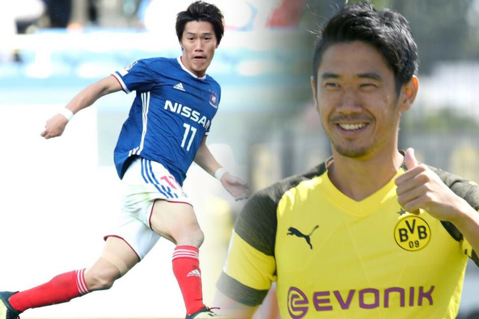 Unions Keita Endo (l) wird schon mit Ex-Dortmund-Star Shinji Kagawa verglichen.