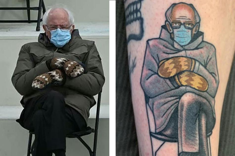 Tattoo artists feel the Bern – mittens and all!