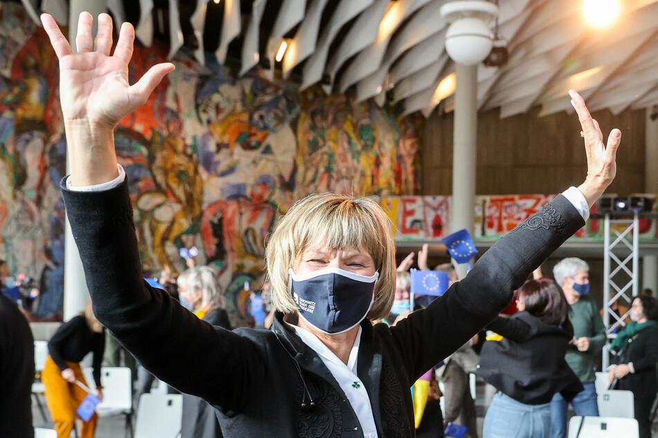 Barbara Ludwig (58, SPD) jubelte nach der Bekanntgabe der europäischen Kulturhauptstadt.