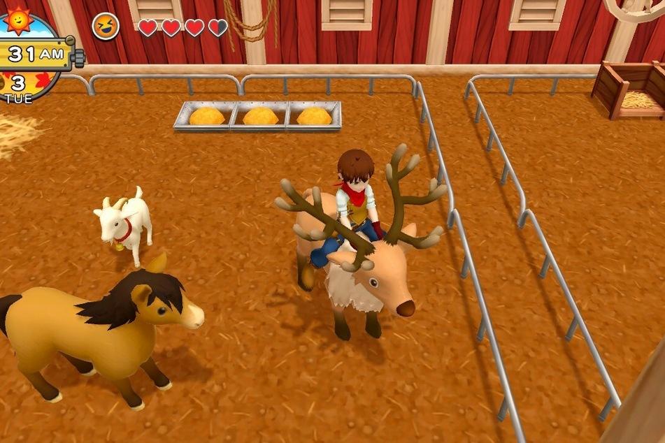 Im Laufe der Zeit könnt Ihr eine ganze Reihe an Tieren in Eurem Stall begrüßen. Vorausgesetzt natürlich, Ihr haltet so lange durch.