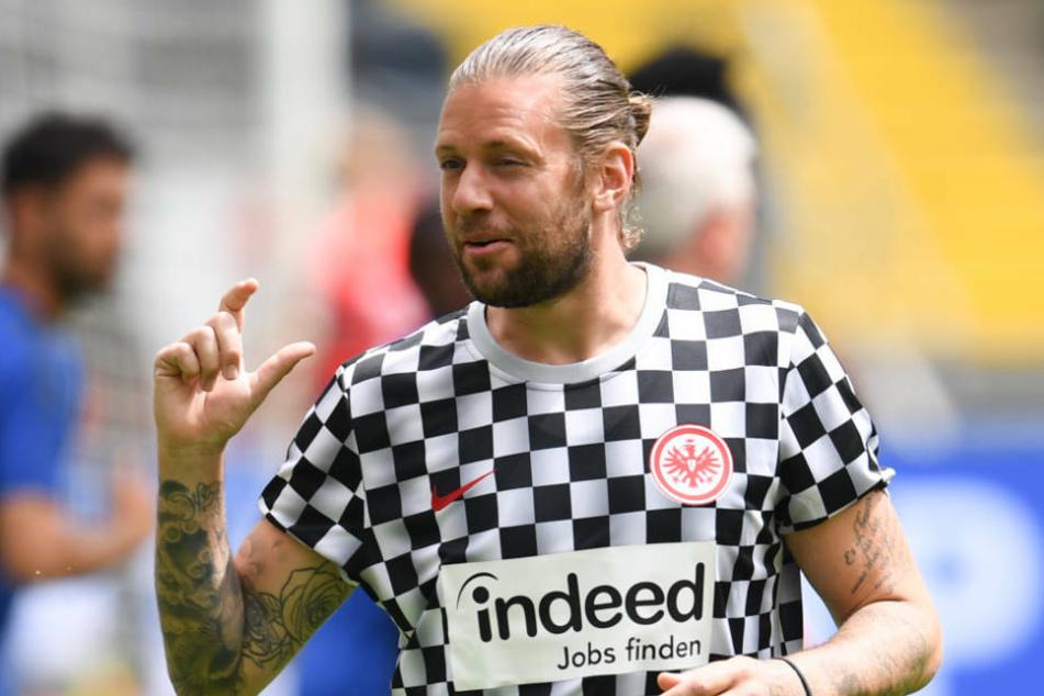 Marco Russ saß in seinem letzten Spiel für Eintracht Frankfurt auf der Bank, kam aber leider nicht mehr zum Einsatz.