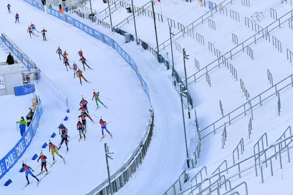 Die Biathlon-Weltcups in Oberhof finden in diesem Jahr vor leeren Zuschauerrängen statt.