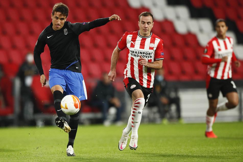 Mario Götze (28, m.) traf zwar in der Europa League für seinen neuen Club, aber verloren hat er am Ende trotzdem.