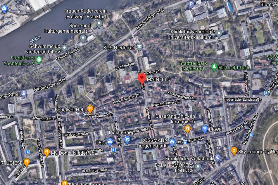 Das Feuer war im Mainfeld im Frankfurter Stadtteil Niederrad ausgebrochen.