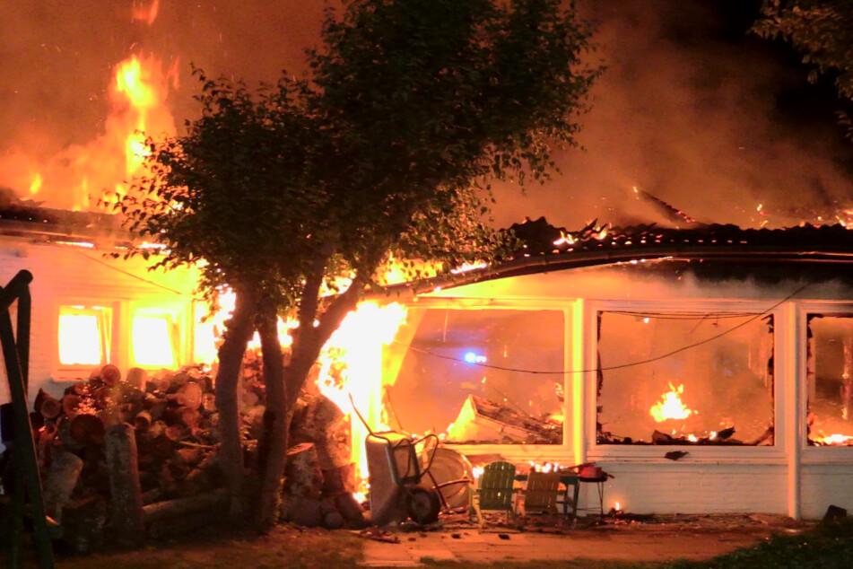 Vereinsheim in Flammen: Konkreter Verdacht auf Brandstiftung