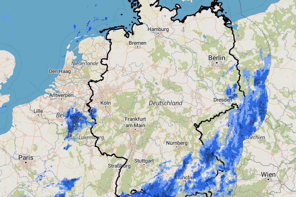 Besonders im Südosten Deutschlands wurde es am Wochenende nass.