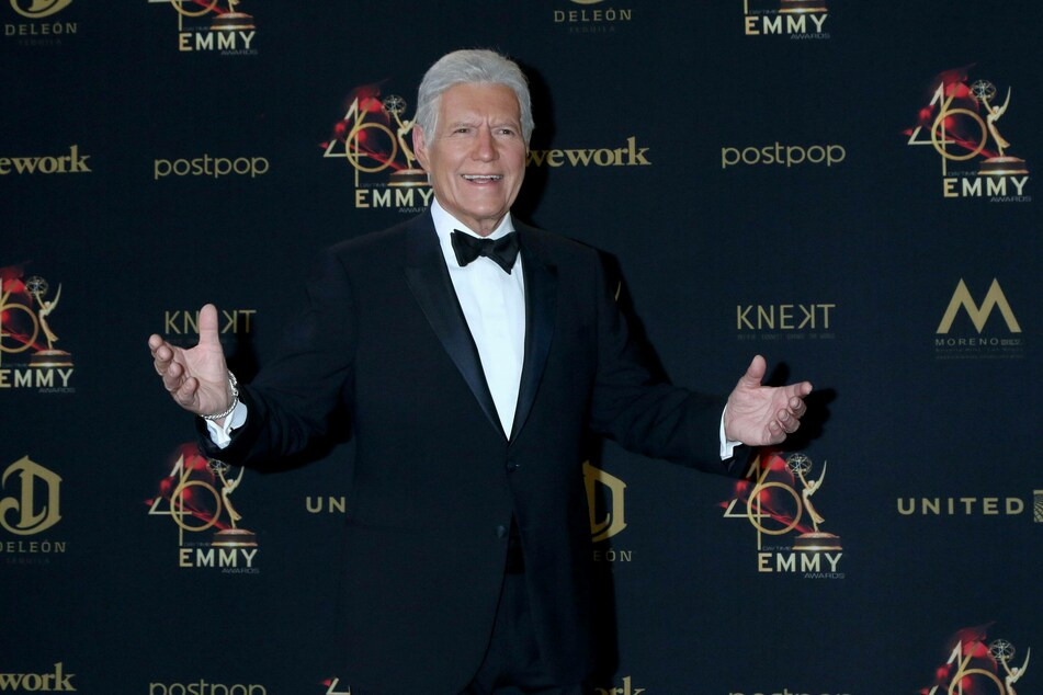 Alex Trebek at the 2019 Daytime Emmy Awards at Pasadena Convention in California.