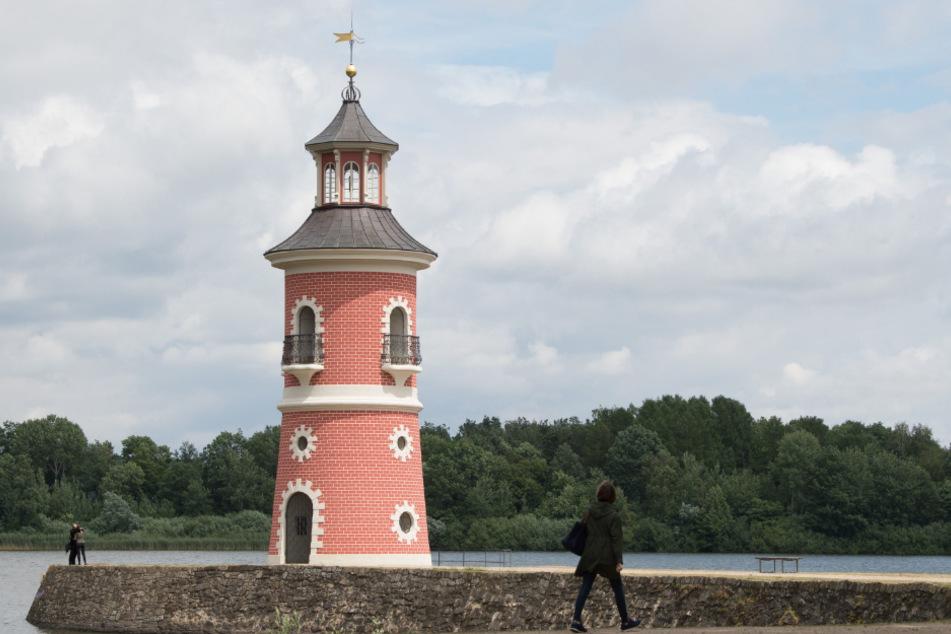 Der Leuchtturm von Moritzburg.