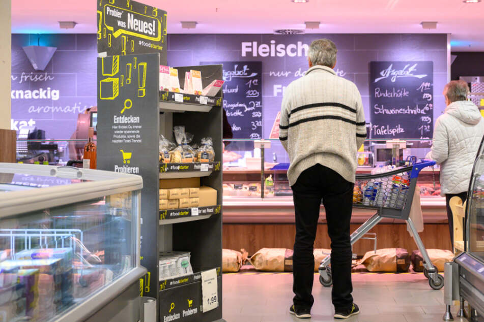 Der Edeka-Markt Fleck in Stuttgart. © Sebastian Gollnow/dpa