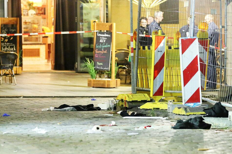 Der Tatort in der Schloßstraße.