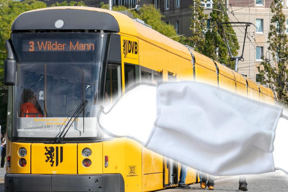 Frau bittet Mann in Straßenbahn, Maske zu tragen: Sein Begleiter rastet aus