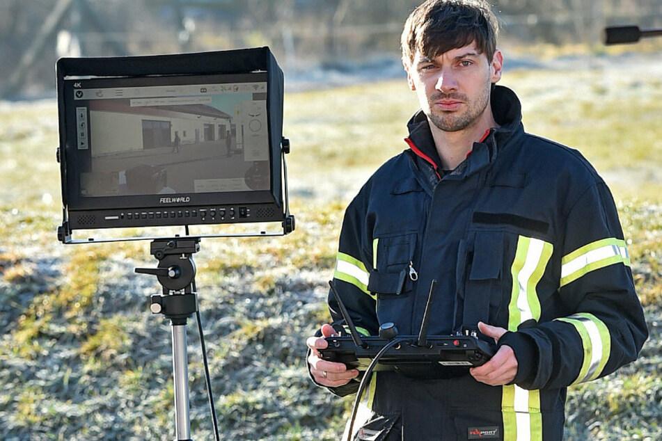 Sachsens Feuerwehr geht in die Luft! Fliegen bald überall Drohnen?