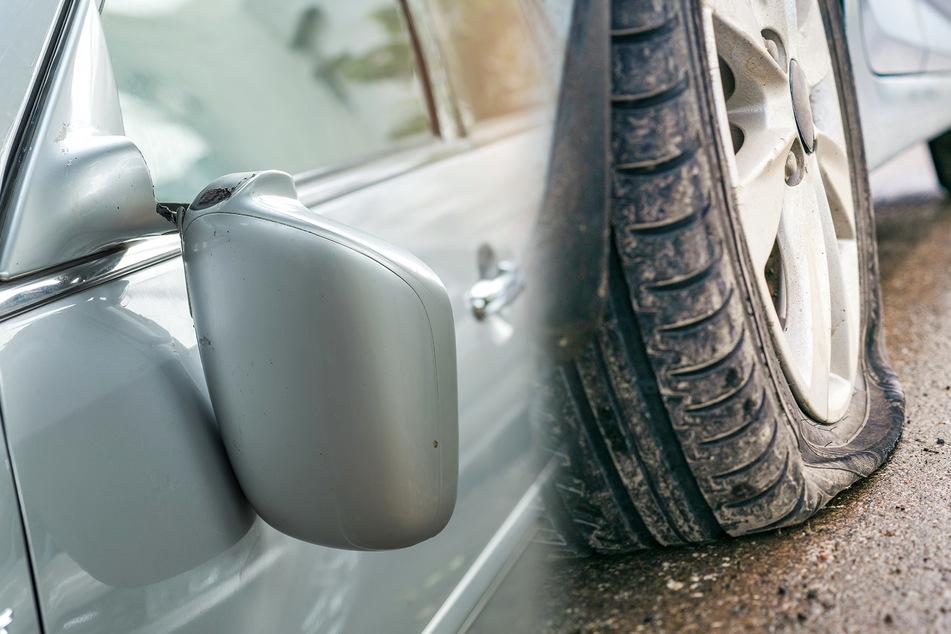 Reifen aufgeschlitzt, Spiegel abgetreten: Mindestens neun Autos attackiert!