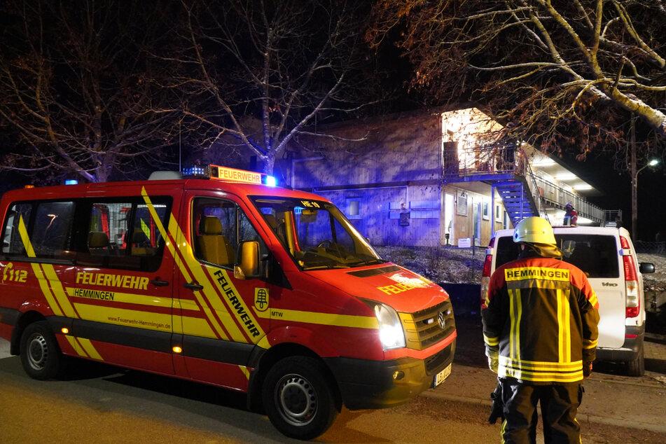 Die Feuerwehr konnte den Brand in der Asylunterkunft löschen.