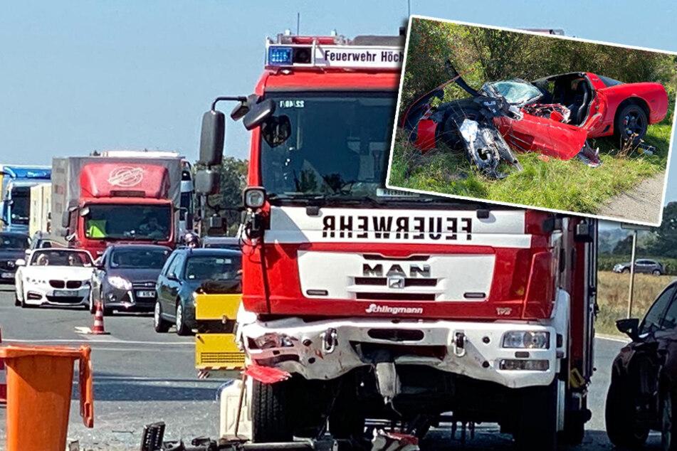 Bei Einsatzfahrt verunglückt: Feuerwehr kracht in Corvette, 65-Jähriger schwer verletzt