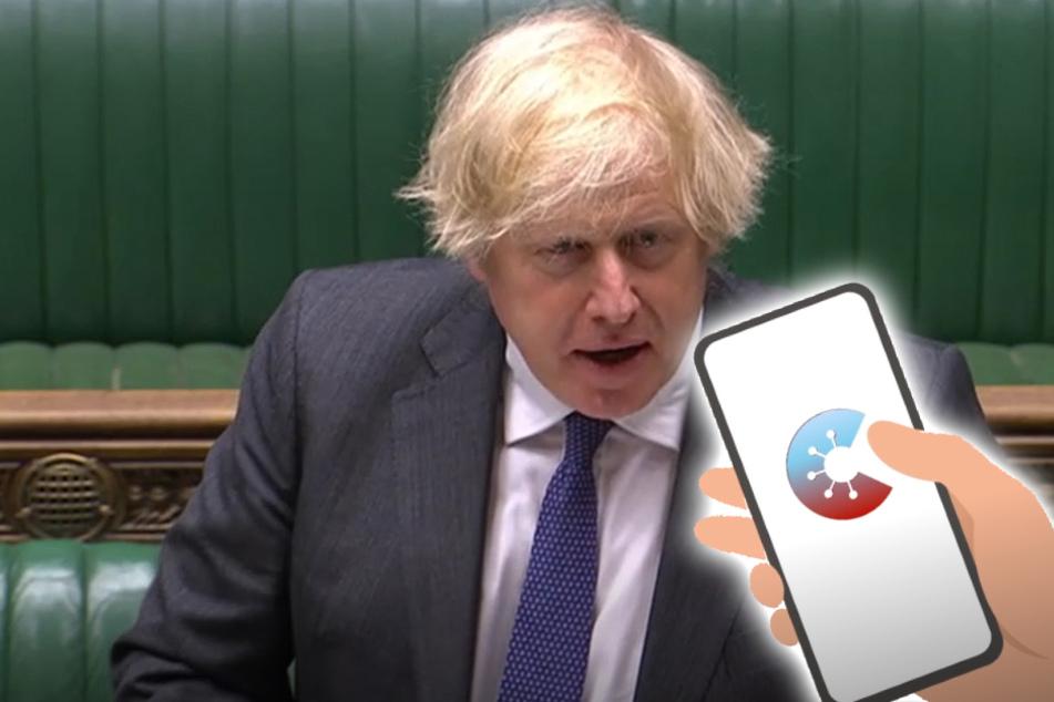 Boris Johnson wird mit deutscher Corona-Warn-App konfrontiert