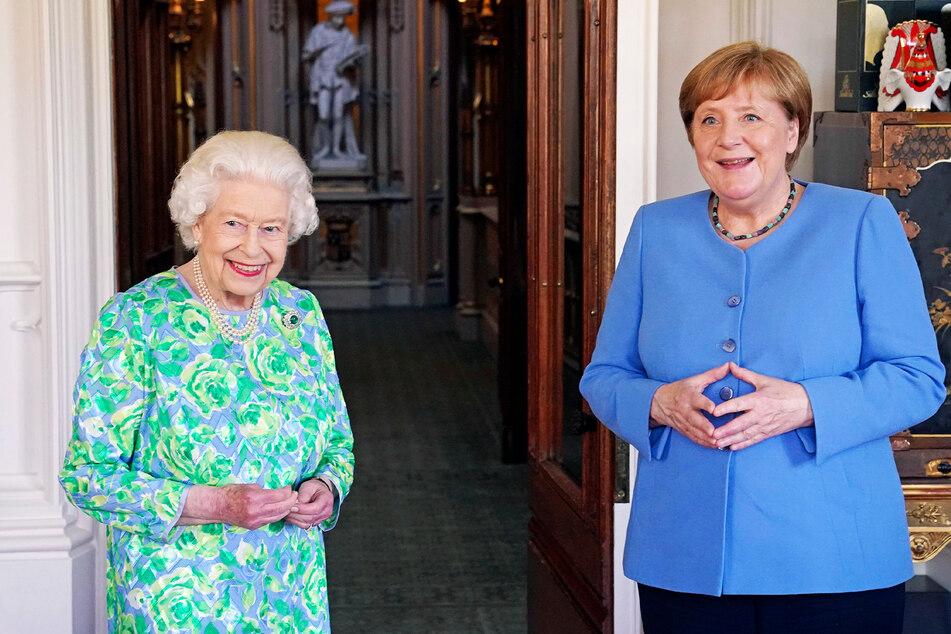 Gute Laune hatte die Kanzlerin auch am Nachmittag beim Treffen mit Queen Elisabeth II. (95) auf Schloss Windsor.