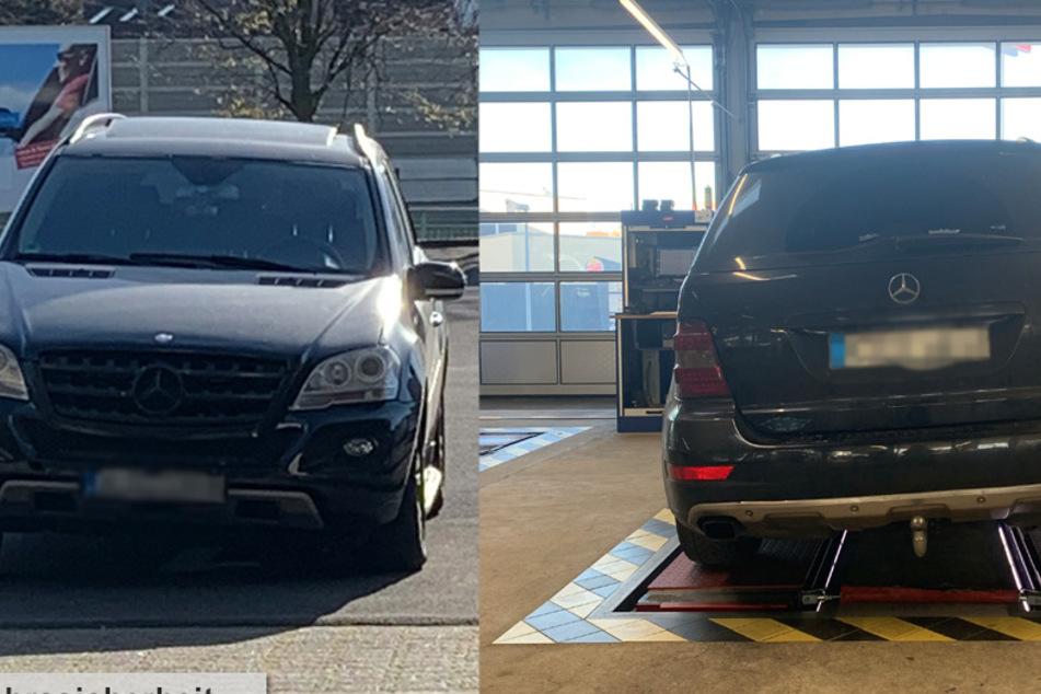 Der Mercedes fuhr schräg über die Straßen von Köln. Die Polizei legte das SUV still.