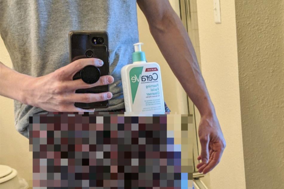 Neuer Internet-Trend: Männer balancieren Shampooflasche auf Penis