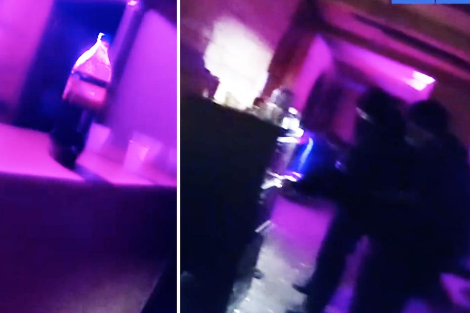 Auf dem Polizeivideo wurden die Räumlichkeiten gezeigt.