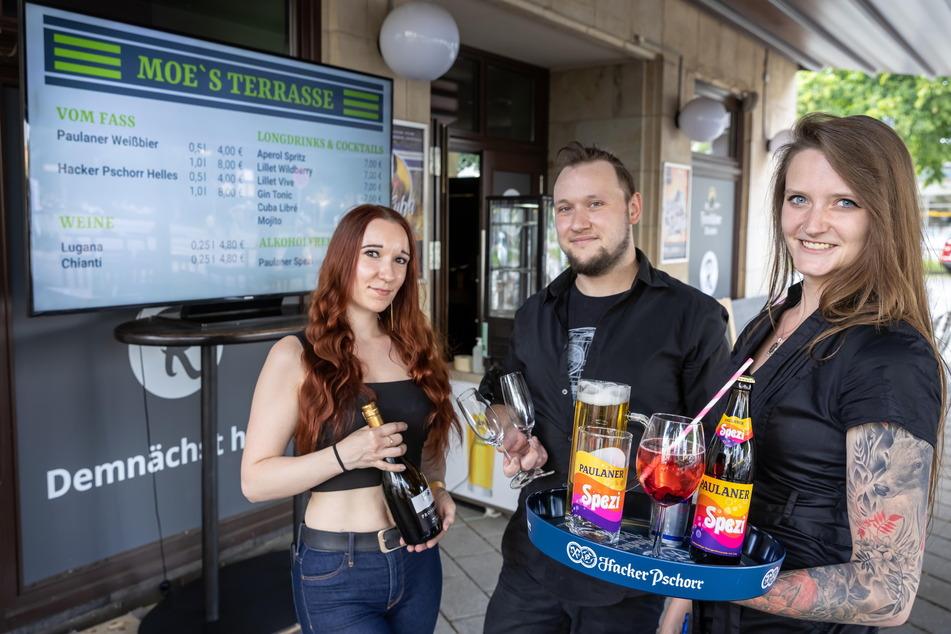 Stephanie Harnapp (31), Thomas Meinhold (33) und Julia Wichert (25,v.l.) warten auf Gäste.
