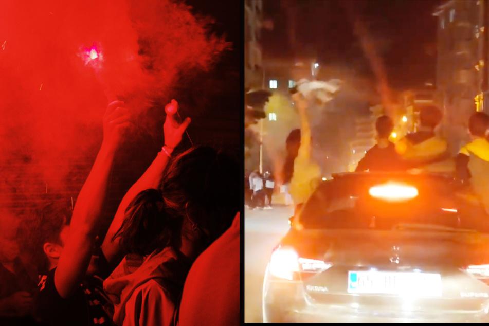 Fans feiern Titel trotz Lockdowns und geraten mit Hilfspolizisten aneinander!