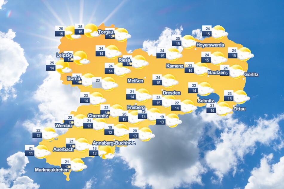 Das Wochenende in Sachsen wird sonnig und warm.