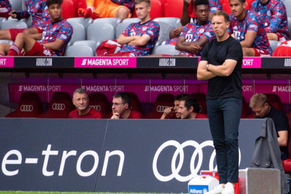 Bayern-Trainer Julian Nagelsmann konnte in der Vorbereitung keinen Sieg einfahren.