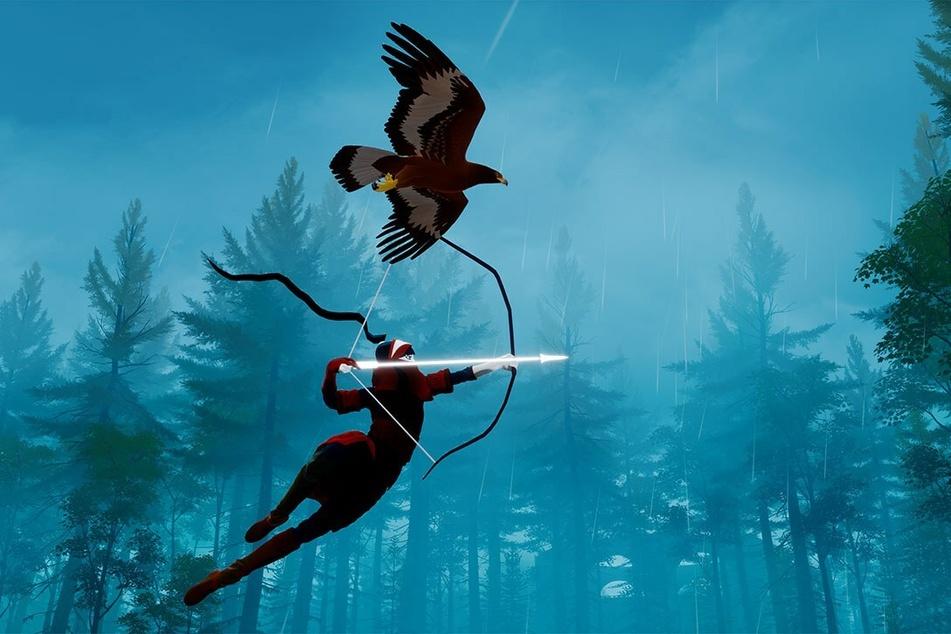 Per Adler über die Insel: Schon nach kürzester Zeit könnt Ihr auch das größte Areal auf den Schwingen Eures Gefährten überqueren.