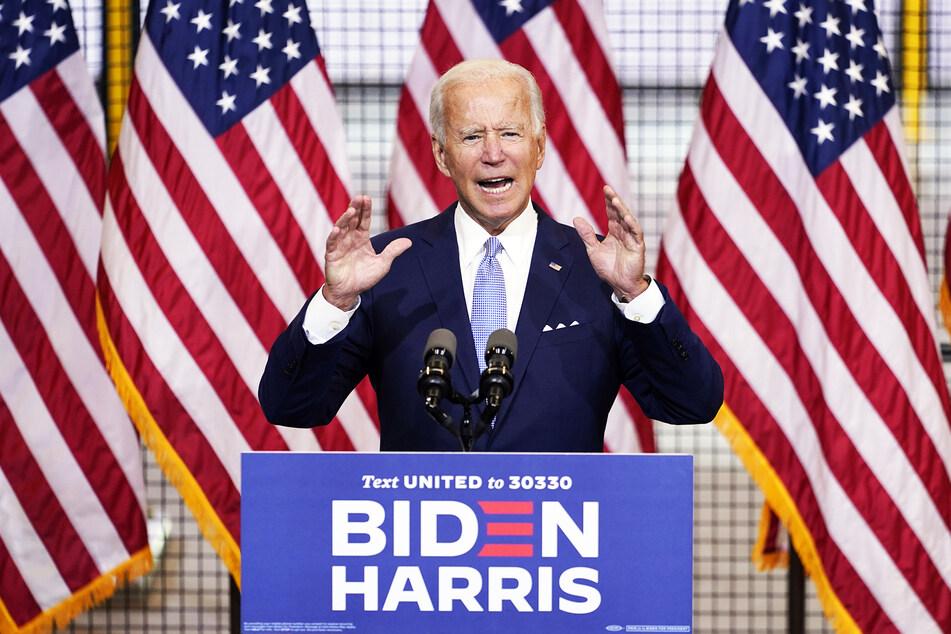 Joe Biden, demokratischer Präsidentschaftskandidat, spricht bei einer Wahlkampfveranstaltung.