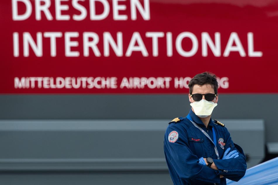 Beim Dresdner Flughafen können sich Reisende auf Corona testen lassen.