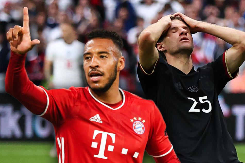 Corentin Tolisso (27, l.) und Thomas Müller (31) könnten auch für die nächsten Bayern-Spiele ausfallen.