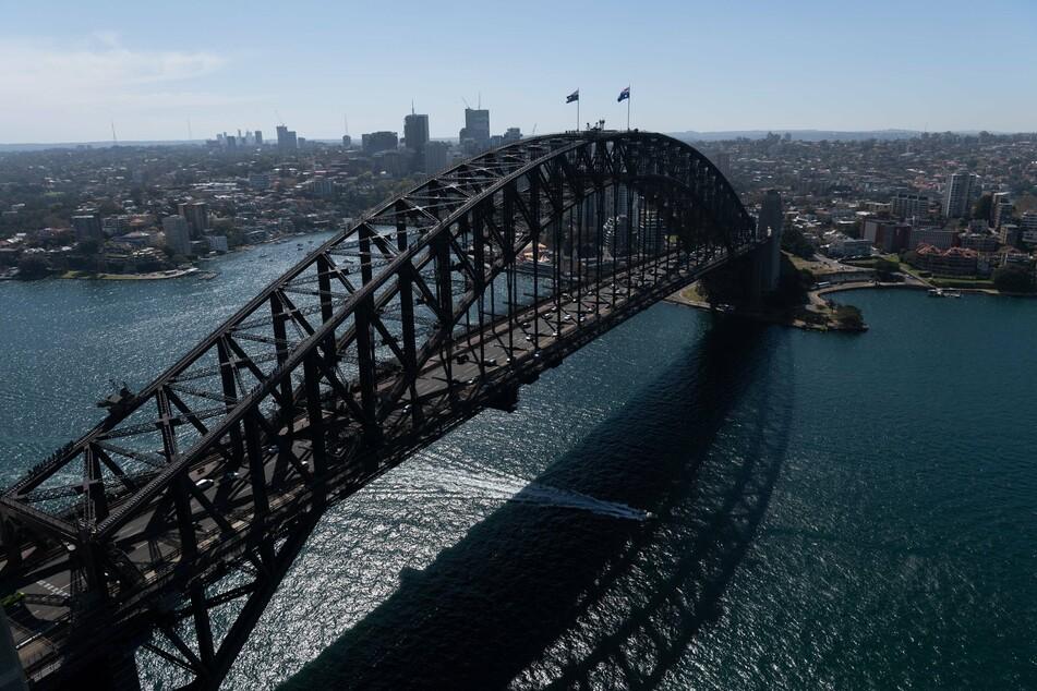 The flight will fly over the Sydney harbor.