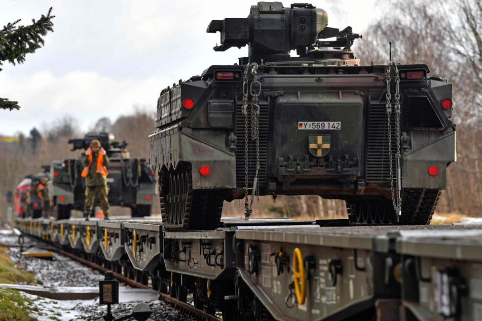 Zum Bundeswehrverband in Litauen gehören auch Panzergrenadierbataillons 371 aus dem sächsische Marienberg. (Archivbild)