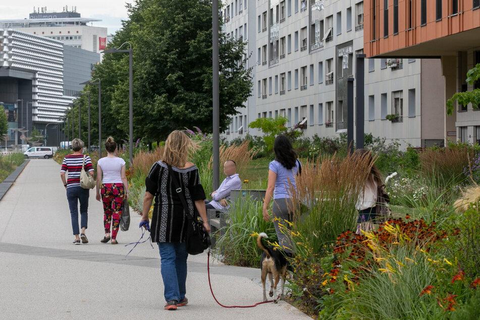 In der Innenstadt in ein grüner Promenadenring entstanden.