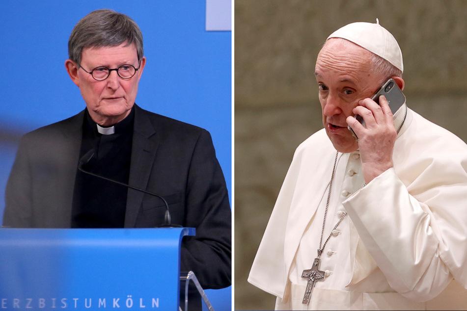 Kardinal Rainer Maria Woelki (64) soll sehr gut in Rom vernetzt sein. Papst Franziskus (84) soll über sein Schicksal im Erzbistum Köln entscheiden. (Fotomontage)