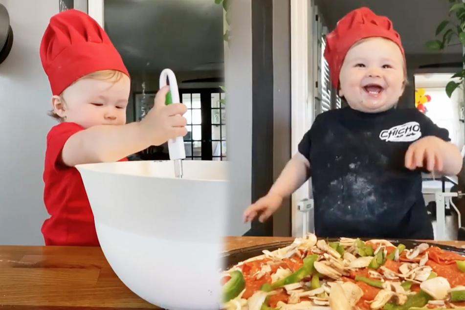 Niedlichster Koch weit und breit: Einjähriger wird zum Küchen-Chef