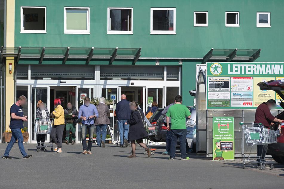 Bis Mittwoch konnten Chemnitzer im Leitermann-Markt noch Pflanzen und Baustoffe kaufen.