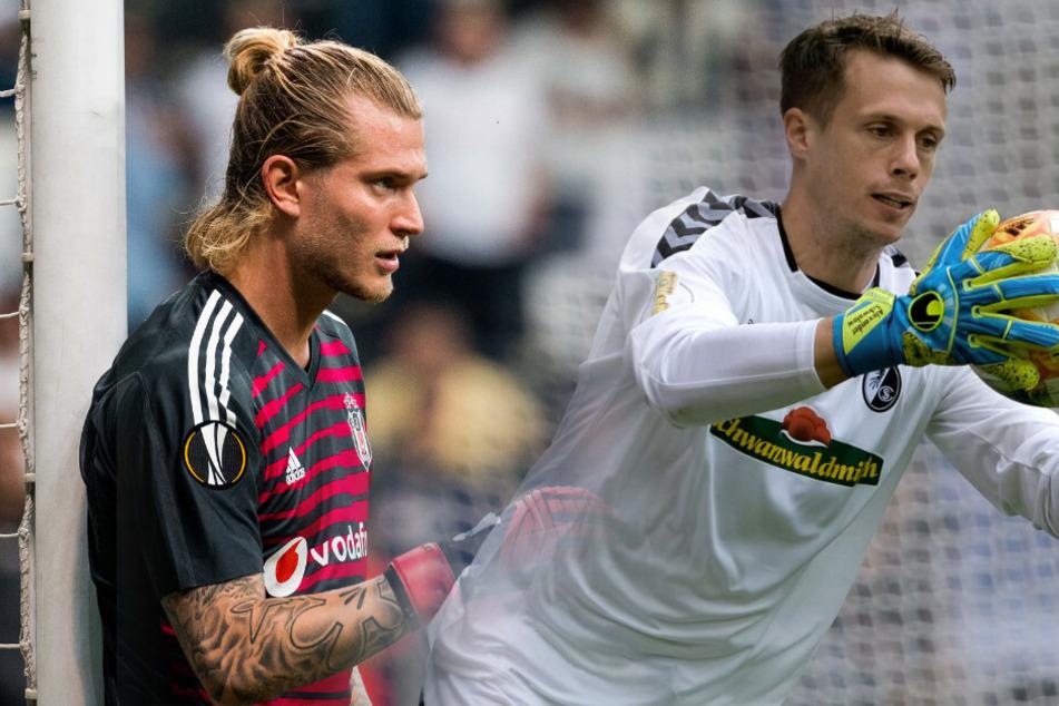 Loris Karius (l) ist bei Hertha BSC offenbar kein Thema. Kommt Freiburgs Alexander Schwolow (r)?
