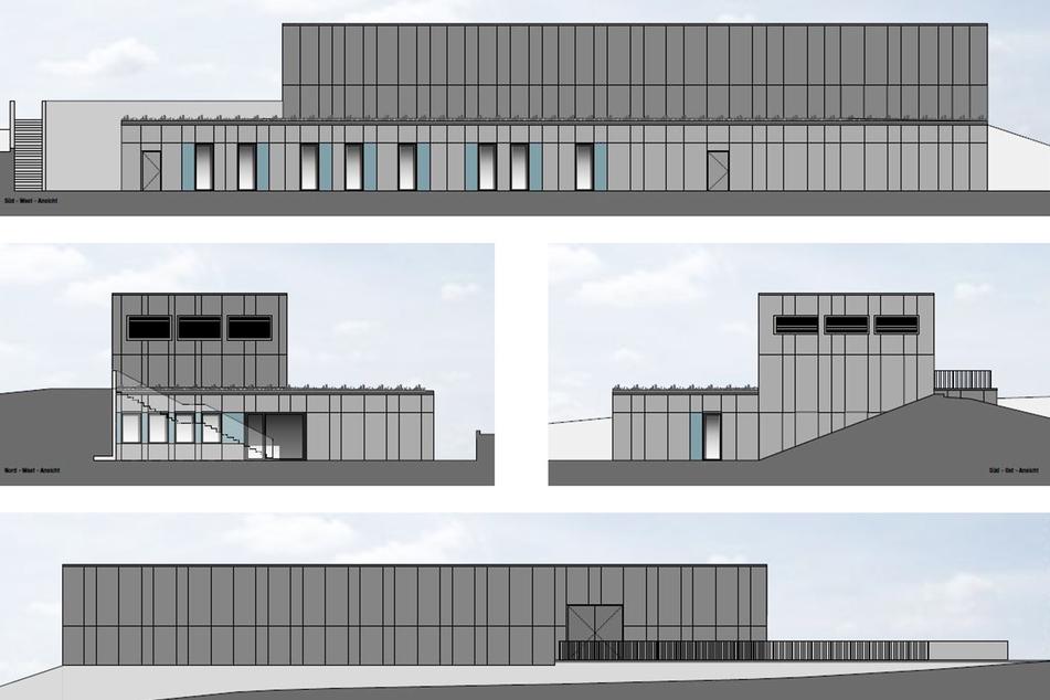 Visualisierung der geplanten Schießanlage in Schneeberg.