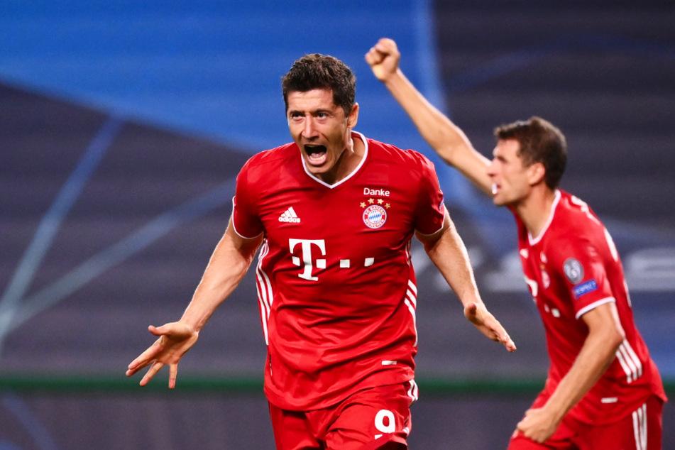 Robert Lewandowski (31, l.) und Thomas Müller (30) könnten im Finale gegen PSG im Angriff die entscheidenden Spieler des FC Bayern werden.