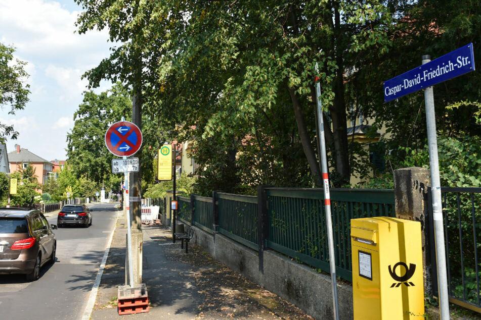 Caspar-David-Friedrich-Straße: Hier rollen ab dem heutigen Montag die Bagger an.