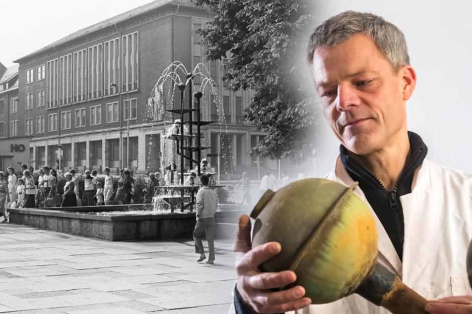 Chemnitz: Das beliebte Wasserspiel vom Chemnitzer Busbahnhof: Dieser Künstler rettet den Klapperbrunnen