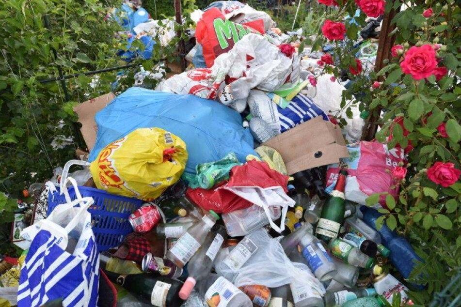 Es stinkt zum Himmel! Müll-Skandal in der Garten-Sparte
