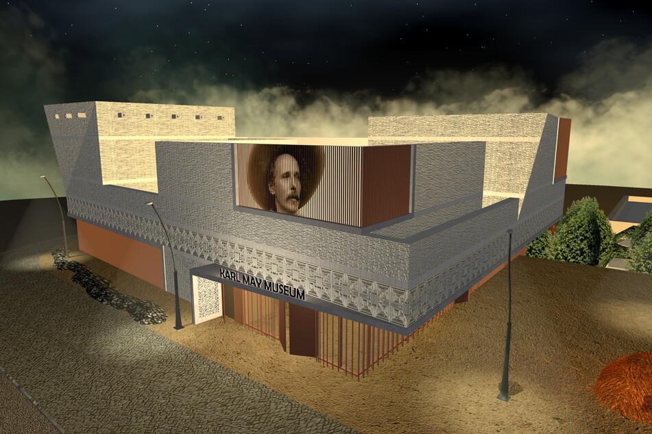 Das neue Besucherzentrum des Karl-May-Museums wurde umgeplant.