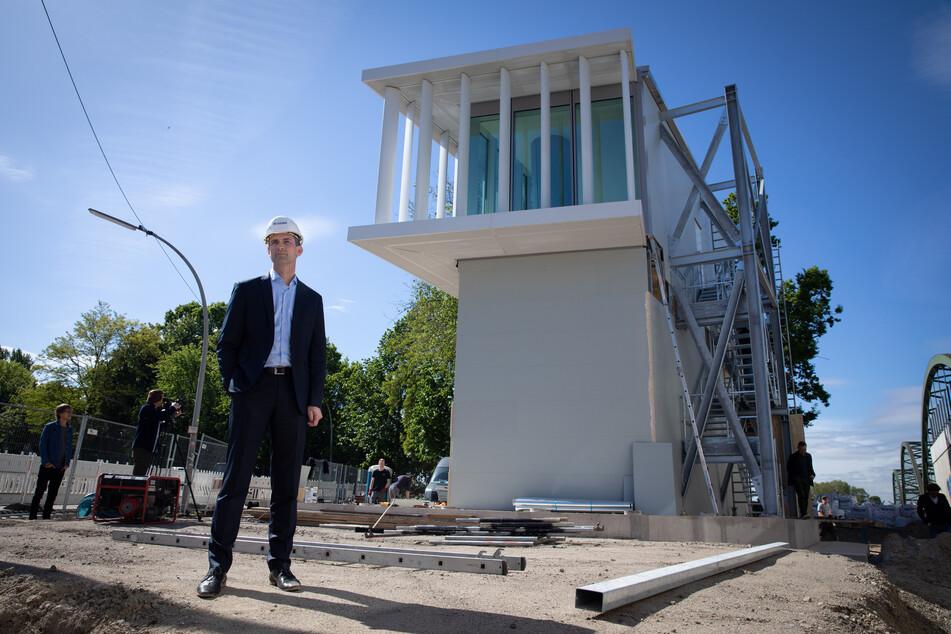 Neues Wahrzeichen für Hamburg: Prototyp von Elbtower enthüllt