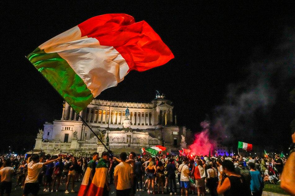 Die ganze Nacht lang wurde in Rom ausgelassen gefeiert.